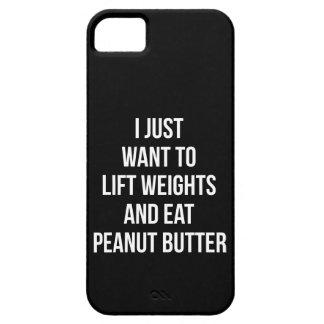 Capas Para iPhone 5 Levante pesos e coma a manteiga de amendoim -