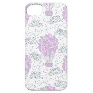 Capas Para iPhone 5 Linha cor-de-rosa roxa da decoração do berçário
