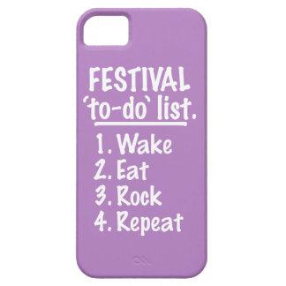 Capas Para iPhone 5 Lista do tumulto do ` do festival' (branca)