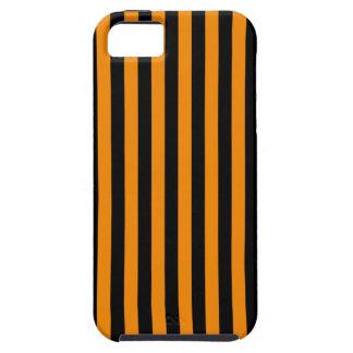 Capas Para iPhone 5 Listras finas - preto e tangerina