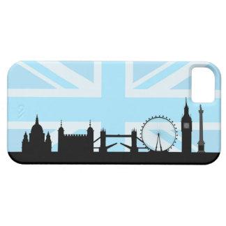 Capas Para iPhone 5 Locais de Londres no céu azul de Union Jack