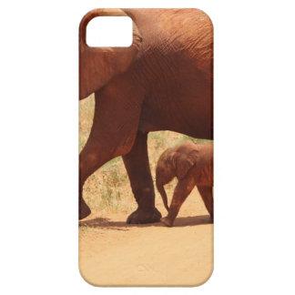 Capas Para iPhone 5 Mamã e Cub do elefante