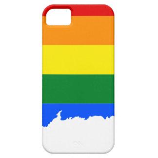 Capas Para iPhone 5 Mapa da bandeira de Connecticut LGBT
