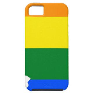 Capas Para iPhone 5 Mapa da bandeira de Illinois LGBT