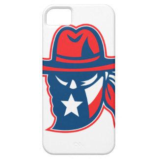 Capas Para iPhone 5 Mascote foragido da bandeira de Texas do Texan