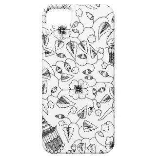 Capas Para iPhone 5 Matéria têxtil indonésia florido abstrata