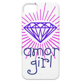 Capas Para iPhone 5 menina do diamante, gema que brilha