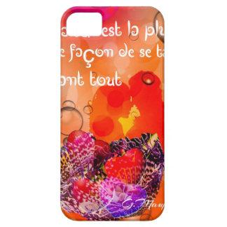 Capas Para iPhone 5 Mensagem do amor com corações coloridos