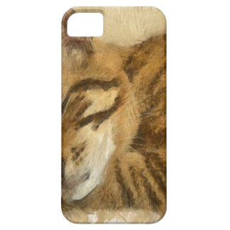 Capas Para iPhone 5 Mentira deixada dos gatos do sono