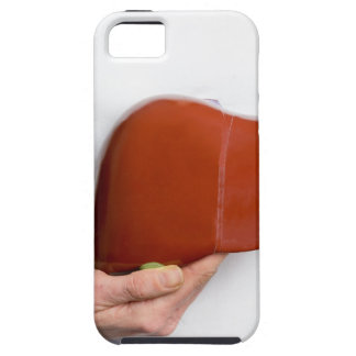 Capas Para iPhone 5 Mulher que guardara o modelo humano do fígado no