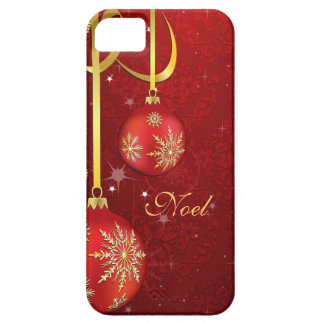 Capas Para iPhone 5 Natal vermelho do damasco