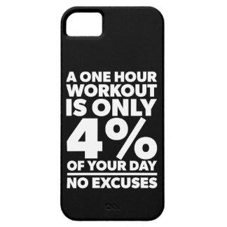 Capas Para iPhone 5 Nenhumas desculpas - esse nosso exercício é 4% de
