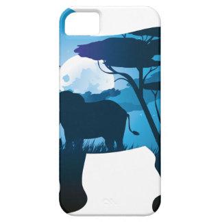 Capas Para iPhone 5 Noite africana com elefante 6