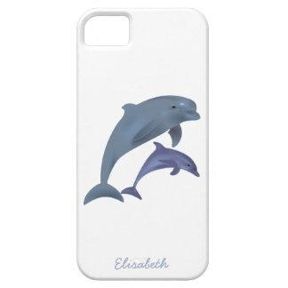 Capas Para iPhone 5 Nome de salto da ilustração dos golfinhos