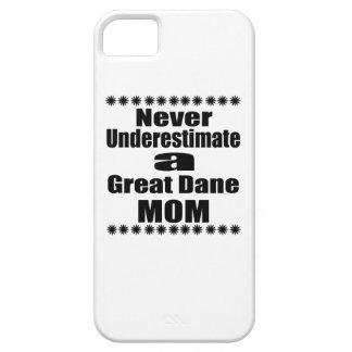 Capas Para iPhone 5 Nunca subestime a mamã de great dane