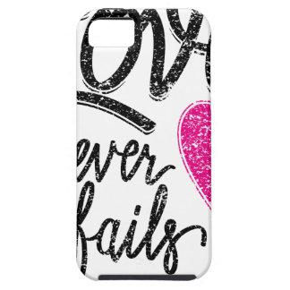 Capas Para iPhone 5 o amor nunca falha, coração do vintage