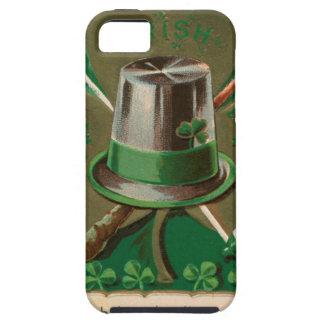 Capas Para iPhone 5 O erin do trevo do dia de VintageSaint Patrick vai