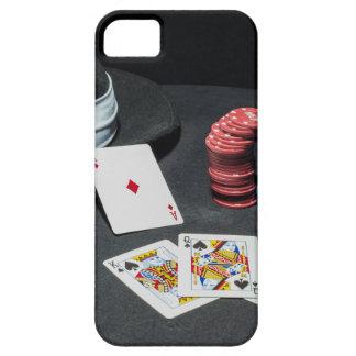 Capas Para iPhone 5 O póquer carda o chapéu do gângster