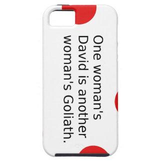 Capas Para iPhone 5 O um David da mulher é o Goliath de uma outra