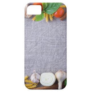 Capas Para iPhone 5 Os ingredientes de comida são instalados como um