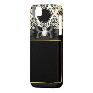 Capas Para iPhone 5 Ouro elegante & arco preto