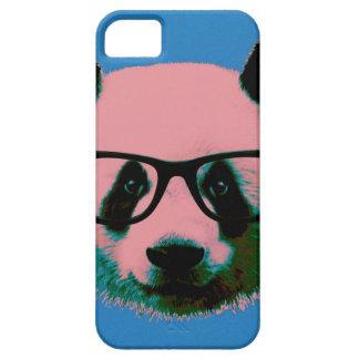 Capas Para iPhone 5 Panda com vidros no azul