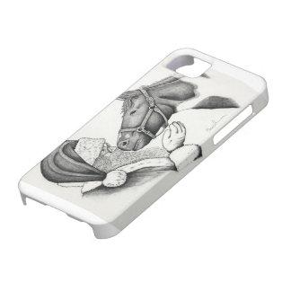 Capas Para iPhone 5 Papai noel do Natal e cavalo da pintura