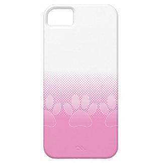 Capas Para iPhone 5 Patas cor-de-rosa e brancas com fundo do papel de