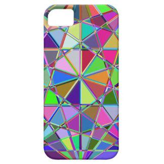 Capas Para iPhone 5 Pedra de gema tirada Kaleidescope colorida
