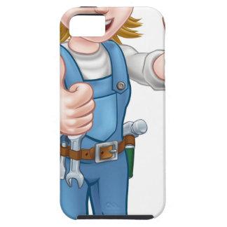 Capas Para iPhone 5 Personagem de desenho animado fêmea do canalizador