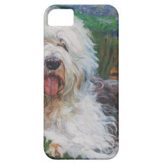Capas Para iPhone 5 Pintura inglesa velha bonita da arte do cão do