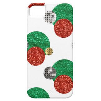 Capas Para iPhone 5 pontos do Natal do sequin