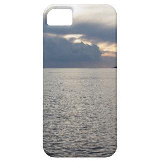 Capas Para iPhone 5 Por do sol morno do mar com o navio de carga no