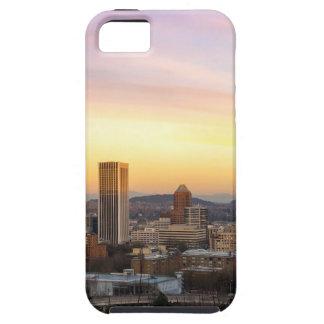 Capas Para iPhone 5 Por do sol sobre Portland OU arquitectura da