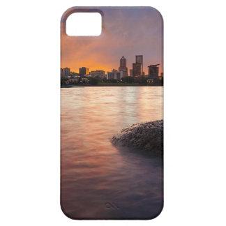 Capas Para iPhone 5 Portland OU skyline ao longo do por do sol do rio