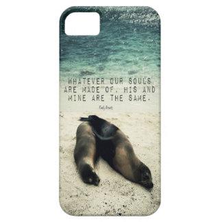 Capas Para iPhone 5 Praia romântica Emily Bronte das citações do casal