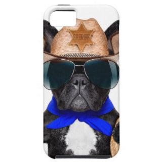 Capas Para iPhone 5 pug do vaqueiro - vaqueiro do cão