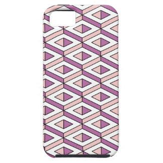 Capas Para iPhone 5 quartzo cor-de-rosa da geometria 3d