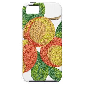 Capas Para iPhone 5 ramo do pêssego, imitação do bordado
