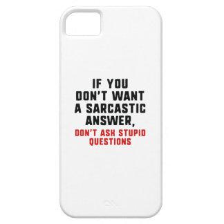 Capas Para iPhone 5 Resposta sarcástica