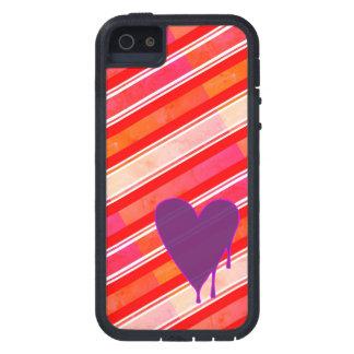 Capas Para iPhone 5 Roxo de derretimento do coração