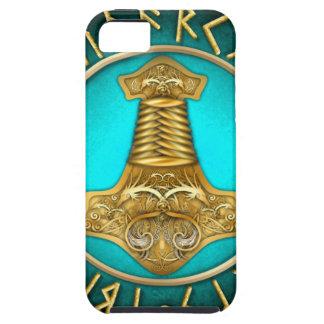 Capas Para iPhone 5 Runes - martelo dos Thors - cerceta
