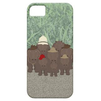 Capas Para iPhone 5 SE do iPhone dos hipopótamos + iPhone 5/5S, mal lá