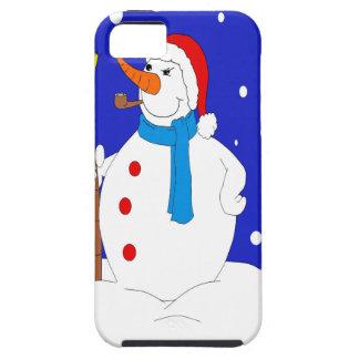 Capas Para iPhone 5 Seguro-Neve-Homem-Cena