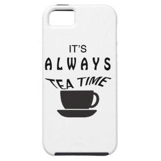 Capas Para iPhone 5 Seu sempre tempo do chá