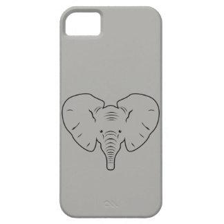 Capas Para iPhone 5 Silhueta da cara do elefante