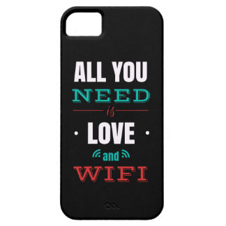 """Capas Para iPhone 5 Smartphone Case """"All you need is WiFi love and """""""