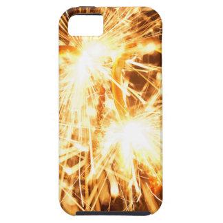 Capas Para iPhone 5 Sparkler ardente no formulário de um coração