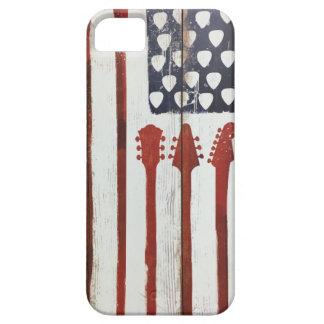 Capas Para iPhone 5 Tema patriótico da música da guitarra da bandeira