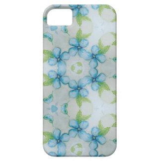 Capas Para iPhone 5 teste padrão azul do amor perfeito da flor